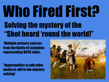 Who Fired First?  Solving the Shot Heard 'Round the World!