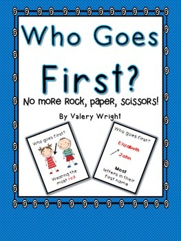 Who Goes First? 40 Cards with Pictures