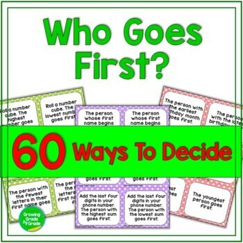Who Goes First? 60 Ways To Decide Freebie