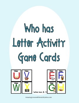 Who Has Letter Activity Game