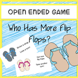 Speech Therapy Open Ended Game Who Has More Flip-Flops?