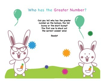 Who Has More: Kindergarten Subitizing and Comparing Numbers, PART 4