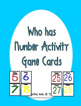 Who Has Number Activity Card Game