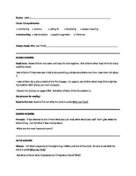 Who Has Time? Guided Reading Lesson Plan