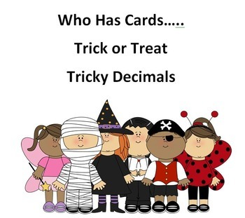 Who Has Tricky Decimals Card Game