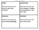 """Who Has"" Vocabulary Game Mcgraw-Hill Reading Wonders Unit"