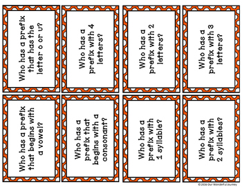 Who Has a Prefix?  Prefix Card Game for Grades 3-5