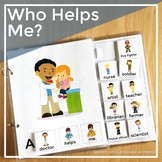 AAC Core Vocabulary Words Interactive Book: Who Helps Me?