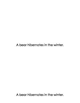 Who Hibernates? Mini Book