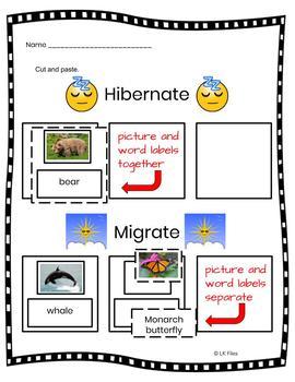 Who Hibernates?  Who Migrates? - A Learning Center Activity