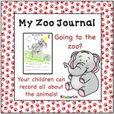 A Zoo Animal Writing Journal