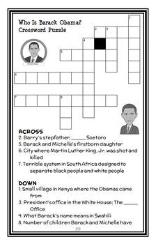 Who Is Barack Obama? (Roberta Edwards) Book Study / Reading Comprehension