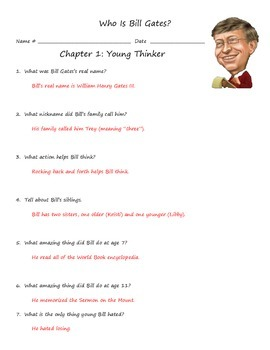 Who Is Bill Gates? Biography Unit