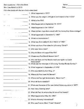 Who Is Bono question resources