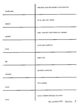 Who Is Bono vocabulary resources