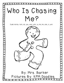 Who Is Chasing Me {An Emergent Reader}