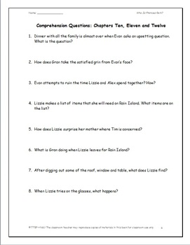 Who Is Frances Rain?: A Complete Novel Study