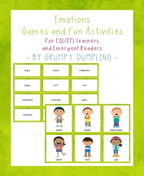 {Freebie}Emotions-Games and Activities for ESL/EFL Learner