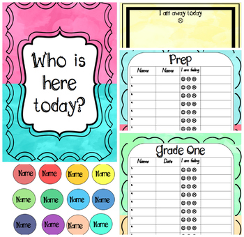 who is here today chart and sign on sheets editable by