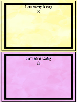 Who Is Here Today Chart and Sign on Sheets {EDITABLE}
