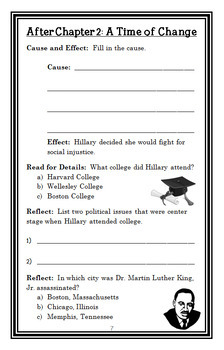 Who Is Hillary Clinton? (Heather Alexander) Book Study / Comprehension (33 pgs)