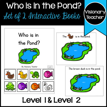 Who Is In The Pond? - 2 Interactive Books