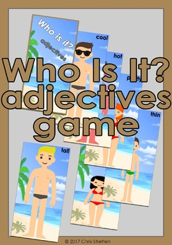 Who Is It? - Adjectives card game