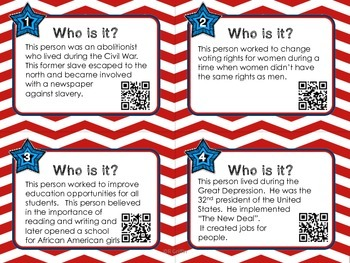 Who Is It?  Historical Figures-Rights and Freedoms