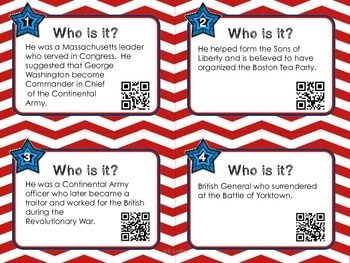 Who Is It? Social Studies Vocabulary with QR Codes BUNDLE