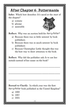 Who Is J. K. Rowling? (Pollack and Belviso) Book Study / Comprehension  (27 pgs)