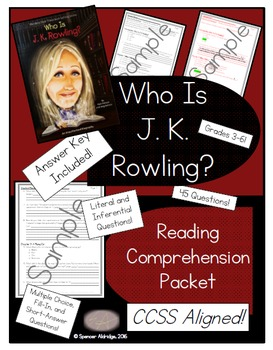 Who Is J. K. Rowling? - Reading Comprehension Packet