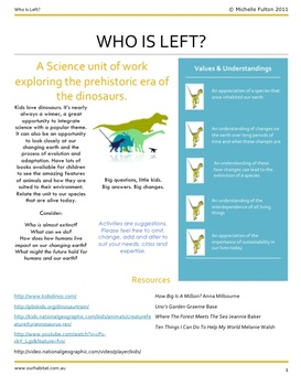 Who Is Left? A Science unit about Dinosaurs and Endangered Species