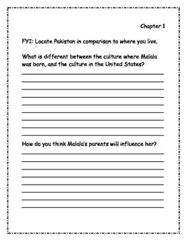 Who Is Malala Yousafzai? Comprehension Packet