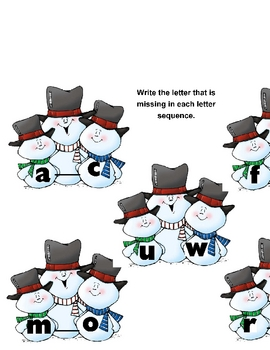 Who Is Missing? Letter Sequencing Center Activity