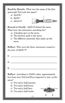 Who Is Neil Armstrong? (Roberta Edwards) Book Study / Comprehension  (30 pages)