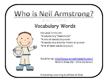 Who Is Neil Armstrong? Vocabulary Match game