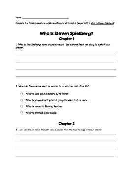 Who Is Steven Spielberg? Reading Guides