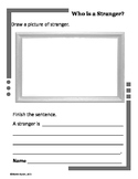 Picture It!  Write It:  Who is a Stranger?