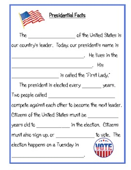 Who Is The President?  President / Election Packet for Grades 1-4