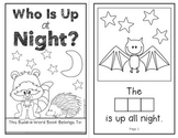Who Is Up at Night?  (An Interactive Build-A-Word Book for K-2)