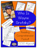 *FREE* Who Is Wayne Gretzky? - Reading Comprehension Packet