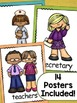 Back to School Activities - Who Is at My School Posters