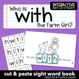 """Interactive Sight Word Reader """"Who Is with the Farm Girl?"""""""