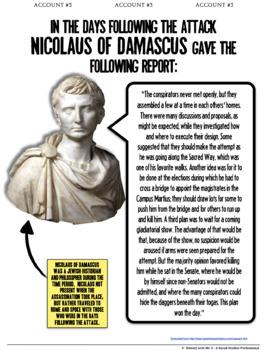 Julius Caesar Assassination CSI Investigation | Ancient Rome | Distance Learning