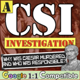 Julius Caesar Assassination CSI Investigation   Ancient Rome   Distance Learning