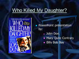 Who Killed My Daughter PowerPoint, Facts & Predictions Wor