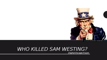 Who Killed Sam Westing? Digital Escape Room - The Westing Game