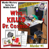 Murder Mystery for Middle School: Who Killed Dr. Cosmo? Murder Mystery #1