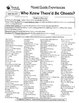 Who Knew There'd Be Ghosts Literature Guide