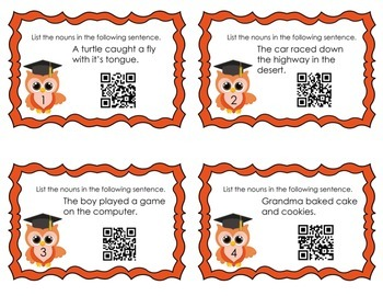 Who Knows Grammar QR Task Cards